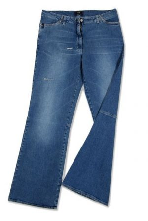 Pantalone 3801 in Denim con zip