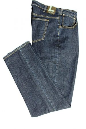 Pantalone 2788 in Denim Elasticizzato con zip