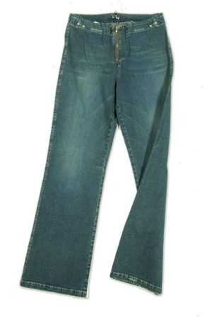 Pantalone 3981 in Denim con zip