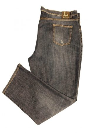 Pantalone 4673 in Denim Elasticizzato con zip