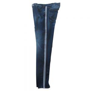 Pantalone 4867 Vita Bassa Gamba stretta in Jeans Elasticizzato con bande laterali